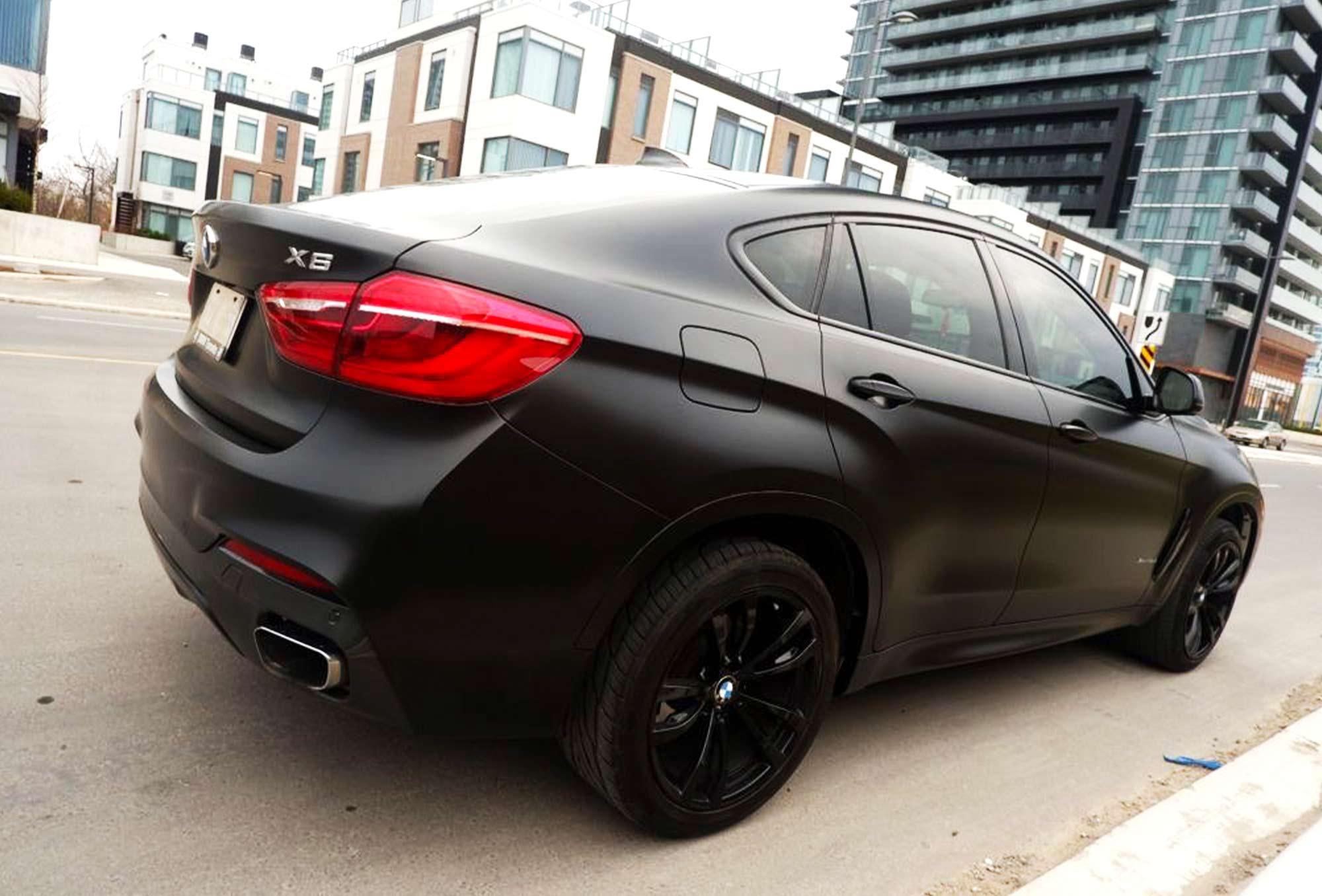 Black Car Wrap